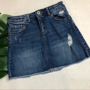 Zara Girls Denim Mini Skirt Size 9/10 EUC